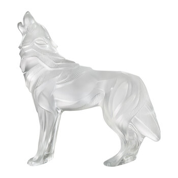 Wolf Glass Figure