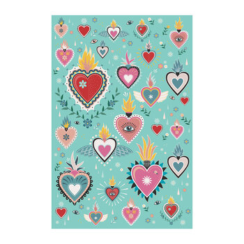 Tattoo Heart Floor Mat - 99x150cm