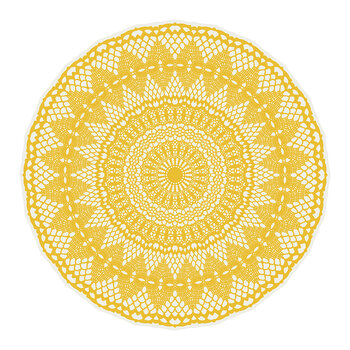 Bright Sunset Placemat - Yellow