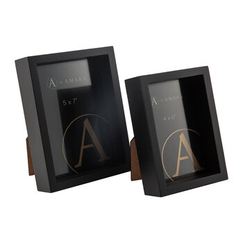 Inset Photo Frame - Set of 2 - Black
