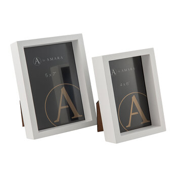 Inset Photo Frame - Set of 2 - White