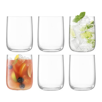 Borough Bar Glass - Set of 6 for 4 - Clear