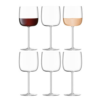 Borough Wine Glass - Set of 6 for 4 - Clear - 450ml