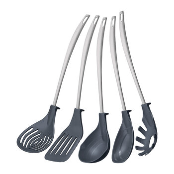 Kitchen Utensils Set - 5 Piece Set - Black
