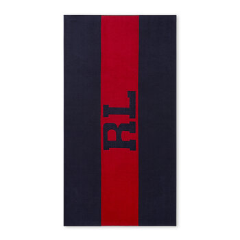 Signature Beach Towel - Red/Navy
