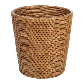 Round Rattan Waste Bin - Natural