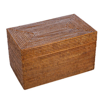 Rattan Storage Chest - Dark