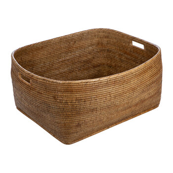 Rattan Woven Storage Basket - Large - Natural