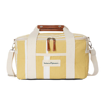 Premium Cooler Bag - Vintage Yellow Stripe