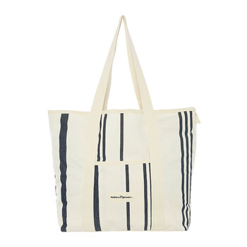 The Beach Bag - Vintage Black Stripe