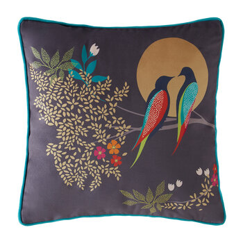 Birds At Dusk Cushion - Dark Grey - 30x30cm