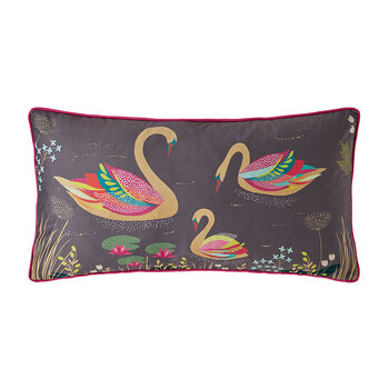 Swan Cushion - Dark Grey - 30x60cm