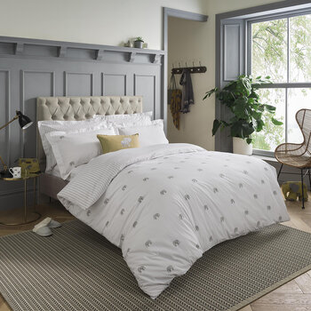 ZSL Elephant Quilt Set - White