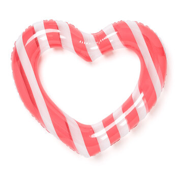 Float On Heart Inflatable - Swim Club Stripe