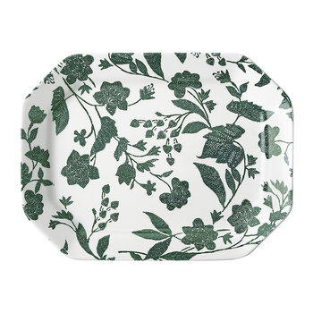 Garden Vine Rectangular Platter - Large - Green