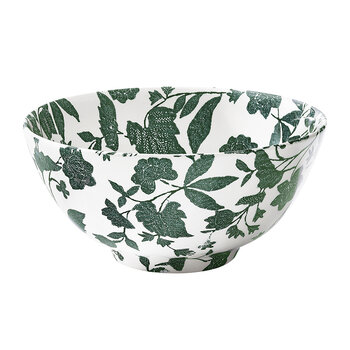 Garden Vine Footed Bowl - Green