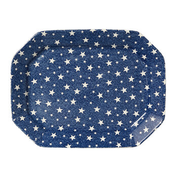 Midnight Sky Rectangular Tray - Indigo