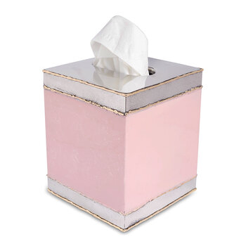 Cascade Tissue Box - Pink Lace