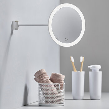 Magnifying Wall Mirror - White