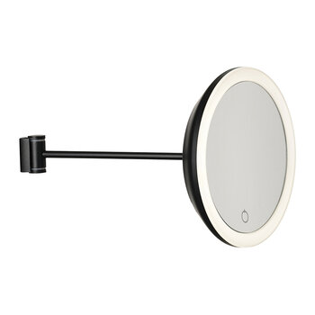 Magnifying Wall Mirror - Black