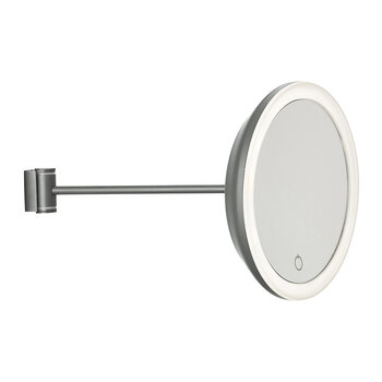 Magnifying Wall Mirror - Gray