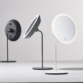 Magnifying Table Mirror - White