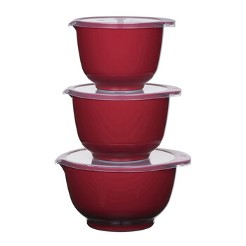 Margrethe Mixing Bowl - Set of 3 - Red
