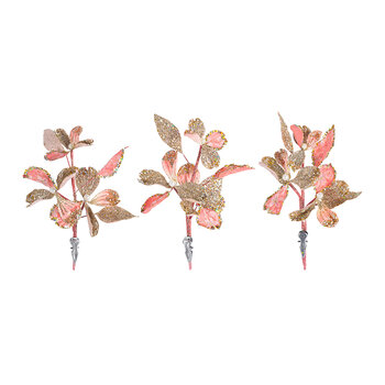 Dogwood Clip On Decoration - Set of 3
