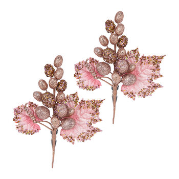 Bunch of Grapes Clip On Decoration - Set of 2 - Pink