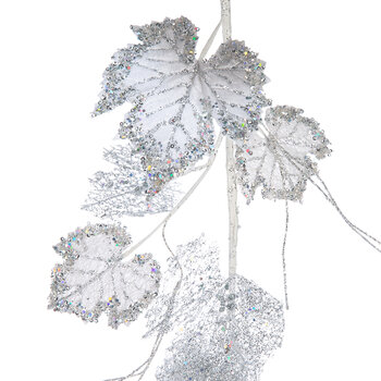 Grape Leaf Spray - Silver