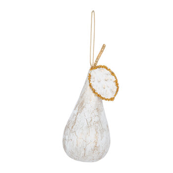 Frosted Pear Tree Decoration - Set of 3