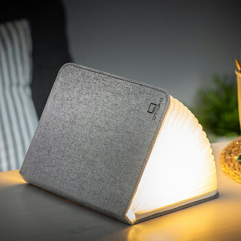 Linen Large Smart Book Light - Urban Grey