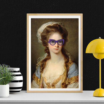 Historic Sunglasses Print - Cat Eye Glasses