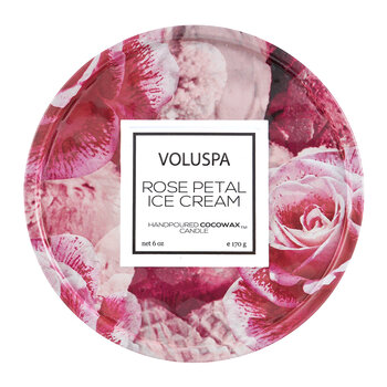 Rose Petal Ice Cream Candle - 170g