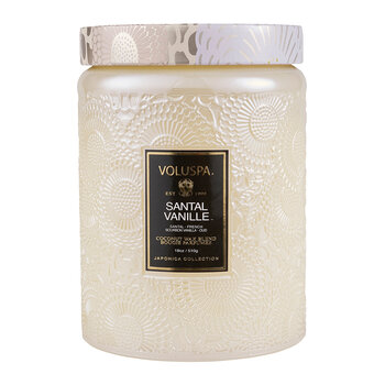 Santal Vanille Glass Jar Candle - Large