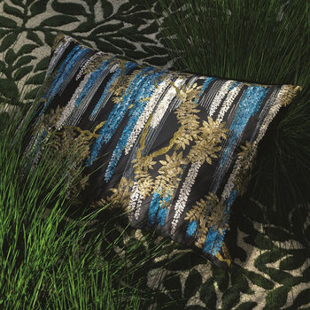 Wisteria Alba Cushion - Stream