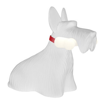 Scottish Terrier Lampe - Weiß