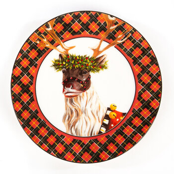 Santa's Reindeer Plate - Set of 4
