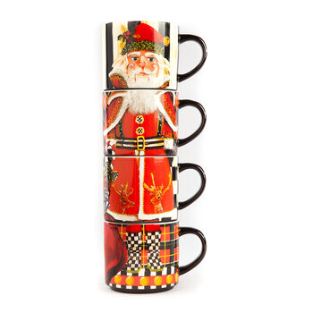 Mug Empilable Casse-Noix du Père Noël - Lot de 4