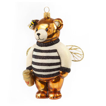 Honey Bear Glass Tree Decoration