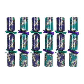 Peacock Crackers - Set of 6