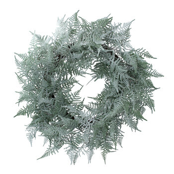 Two Tone Fern Wreath