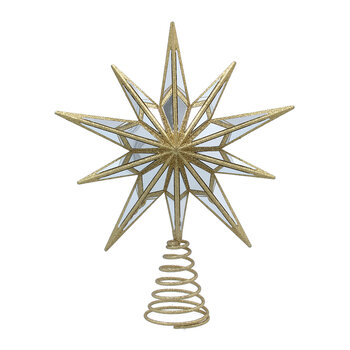 Mirror Star Tree Topper - Gold