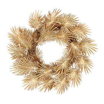 Palm Leaf Wreath - Gold