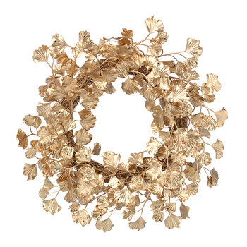Ginko Leaf Wreath - Gold