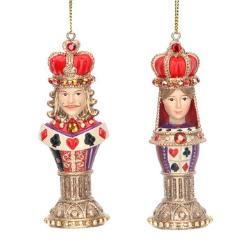 Chess Piece Tree Decoration - Set of 2 - King & Queen