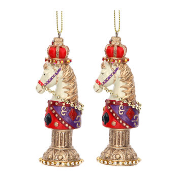 Chess Piece Tree Decoration - Set of 2 - Horse
