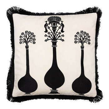 Vases Pillow with Fringing - 40x40cm