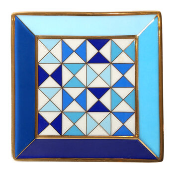 Sorrento Square Tray - Blue/White