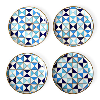 Sorrento Coasters - Set of 4 - Blue